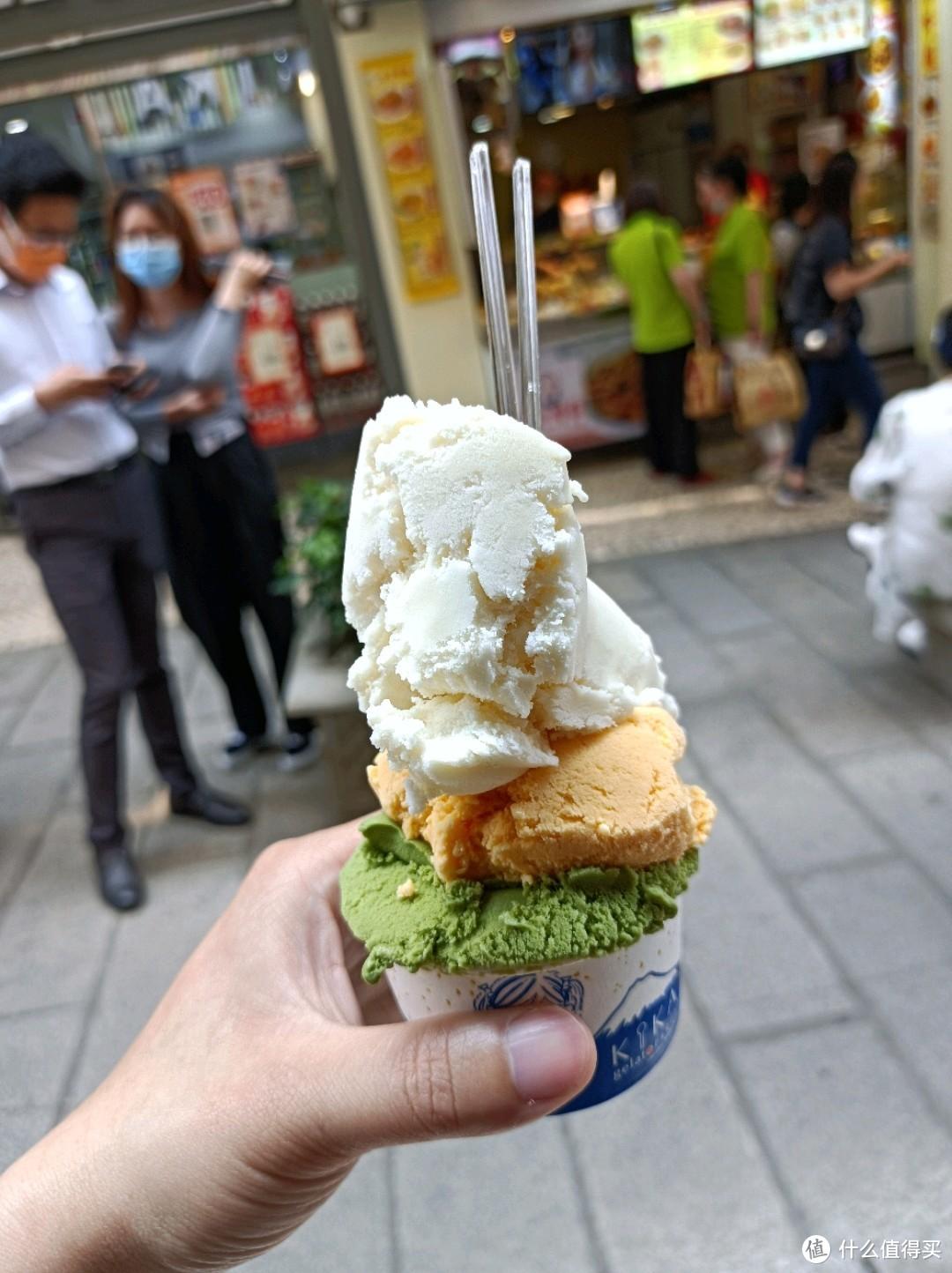 米其林推荐的kika日式手工雪糕,豆腐脑、芒果、抹茶