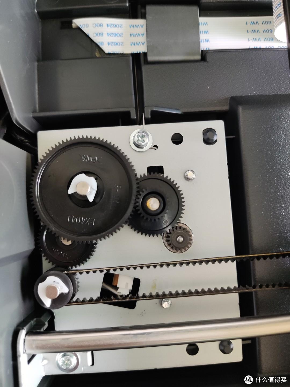 可以看到扫描头的电机齿轮没有损坏