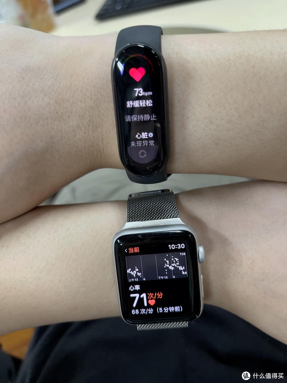 心率检测两者基本一致