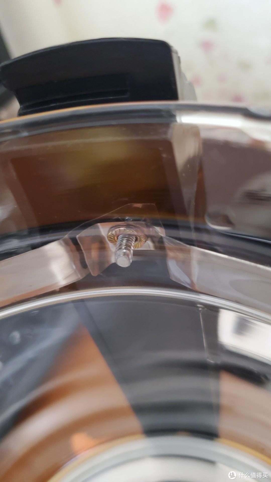 装回钢圈的时候不要拧过头了,容易顶到壶身。