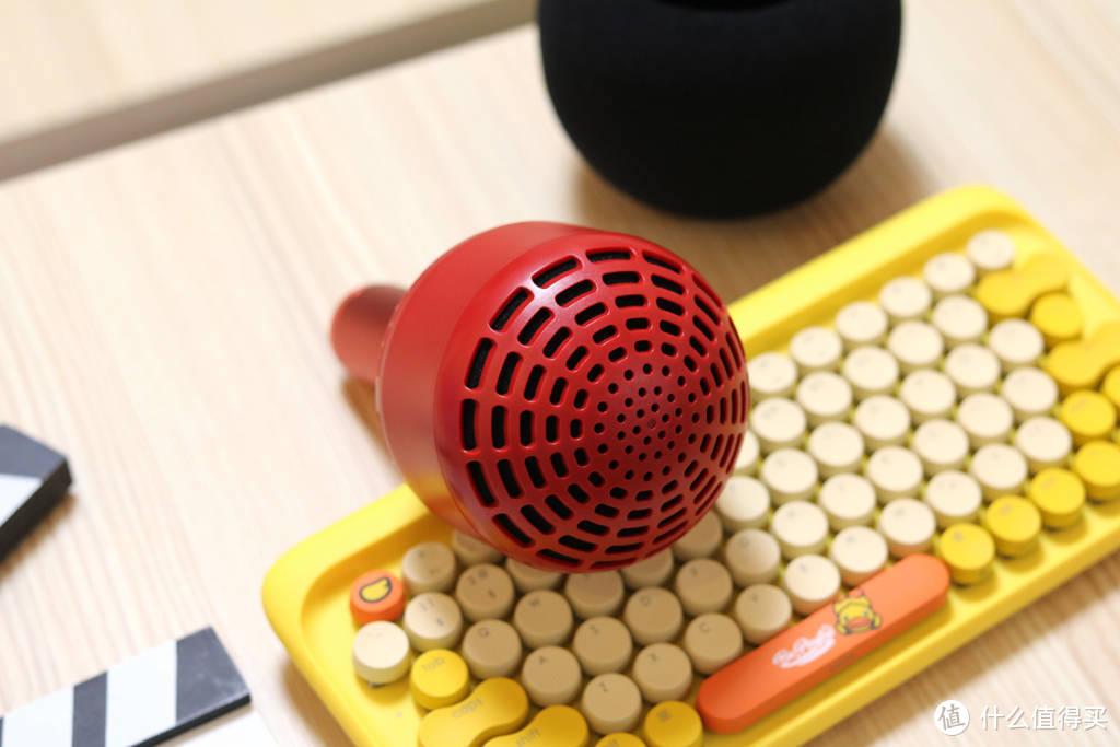 唱吧小巨蛋麦克风Q5体验,居家哄娃K歌神器,支持双机互联合唱