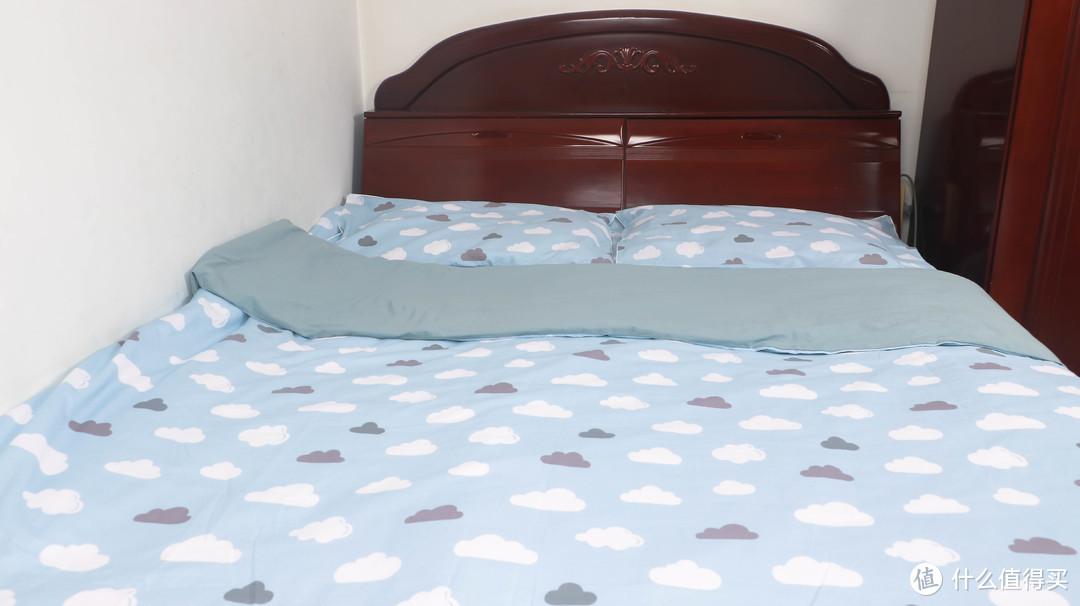 柔软舒适,酣畅睡眠:LOVO 乐蜗家纺特丽斯水洗棉四件套评测