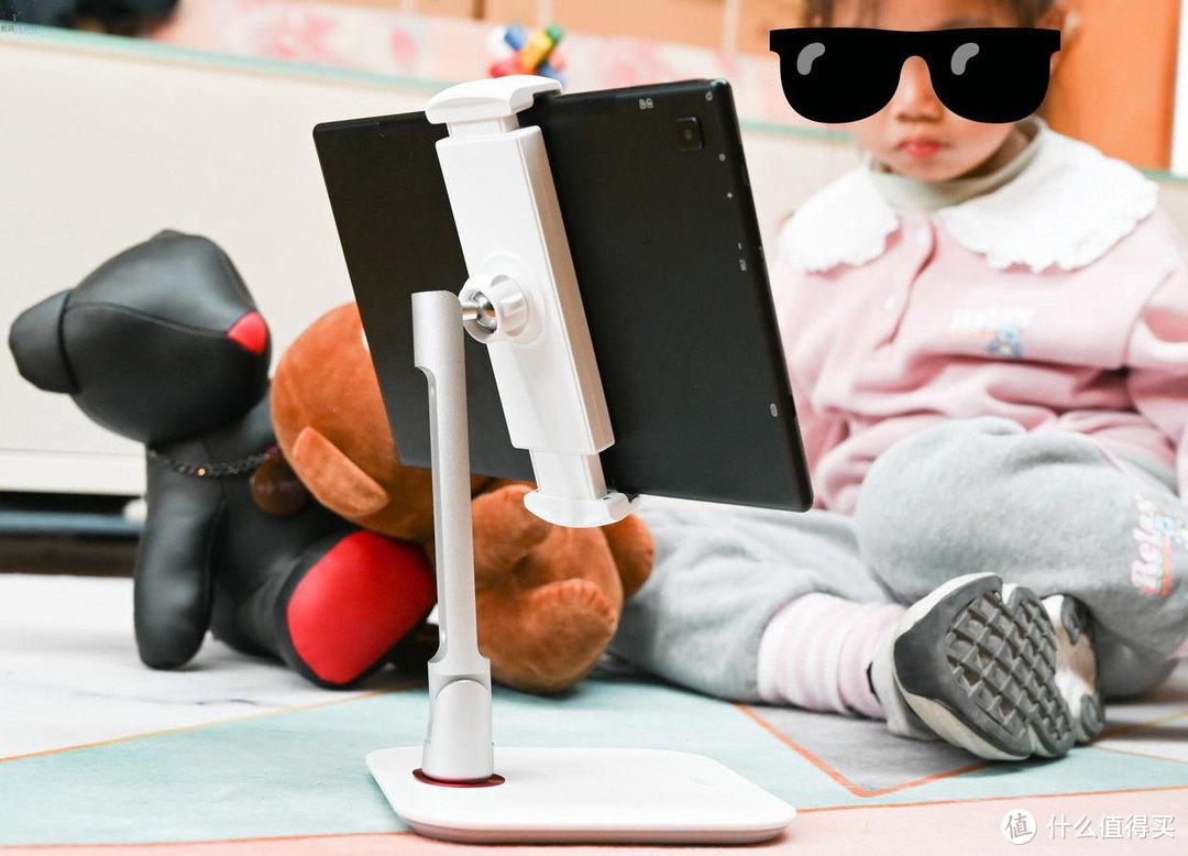 更结实的平板支架,让小朋友上网课更舒服,小天iPad桌面支撑架上手