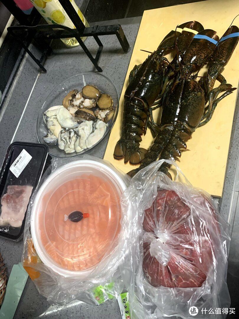 做一顿简单海鲜大餐,龙虾,鲍鱼,生蚝,三文鱼,附网购食材链接