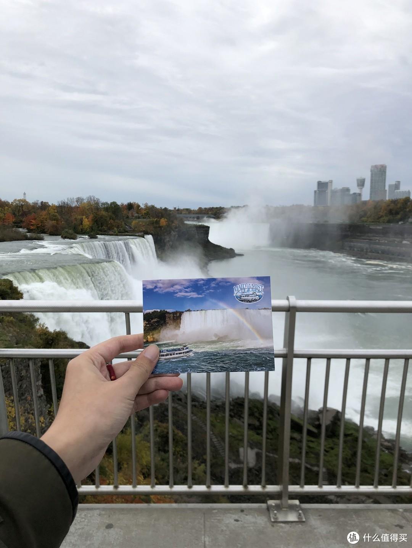 观景台上看瀑布