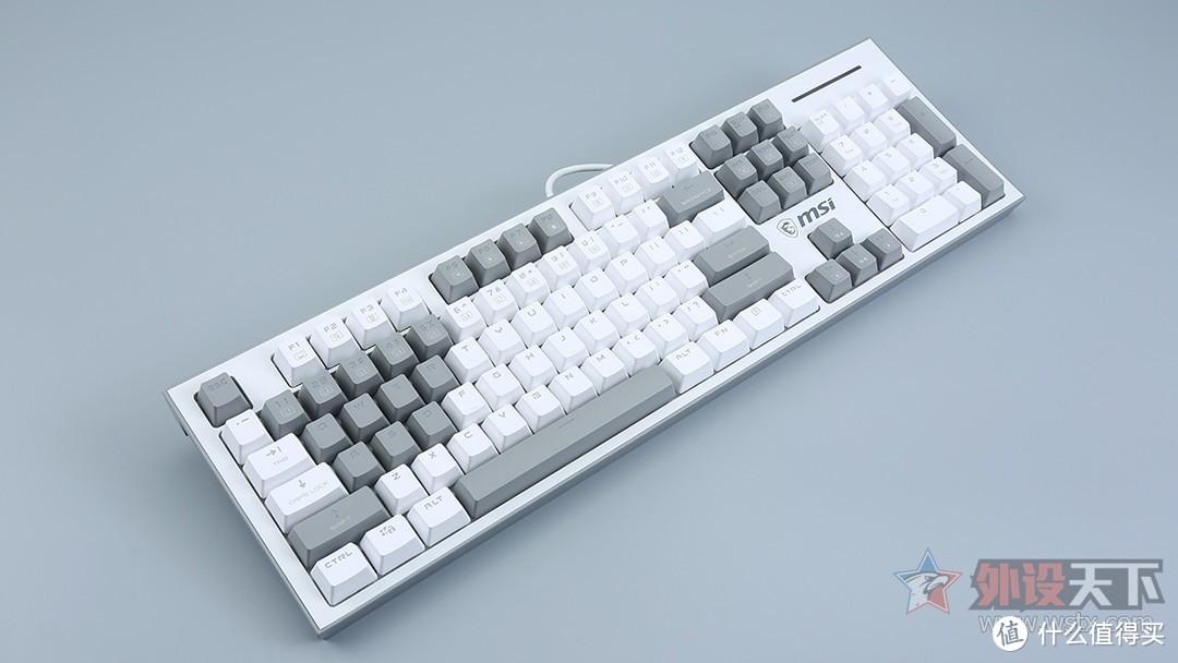 微星GK50Z Pixel 40度灰游戏机械键盘