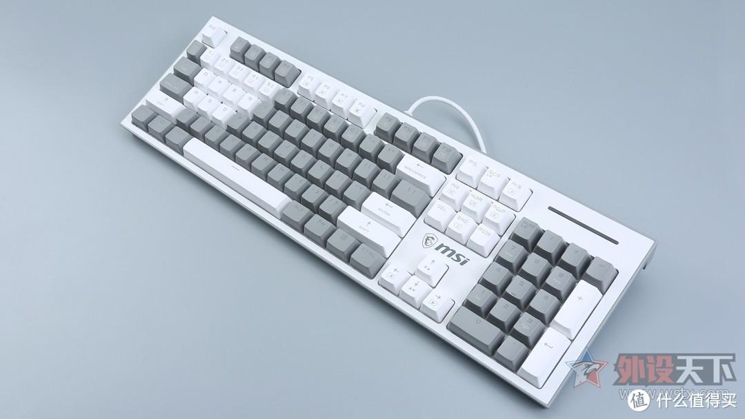 微星GK50Z Pixel 60度灰游戏机械键盘