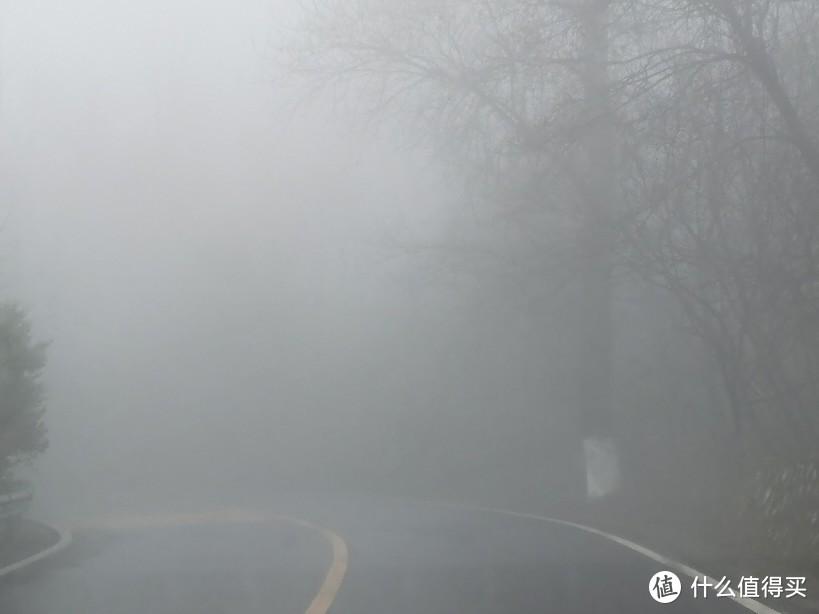 有雾了,视野极差,只能慢慢开