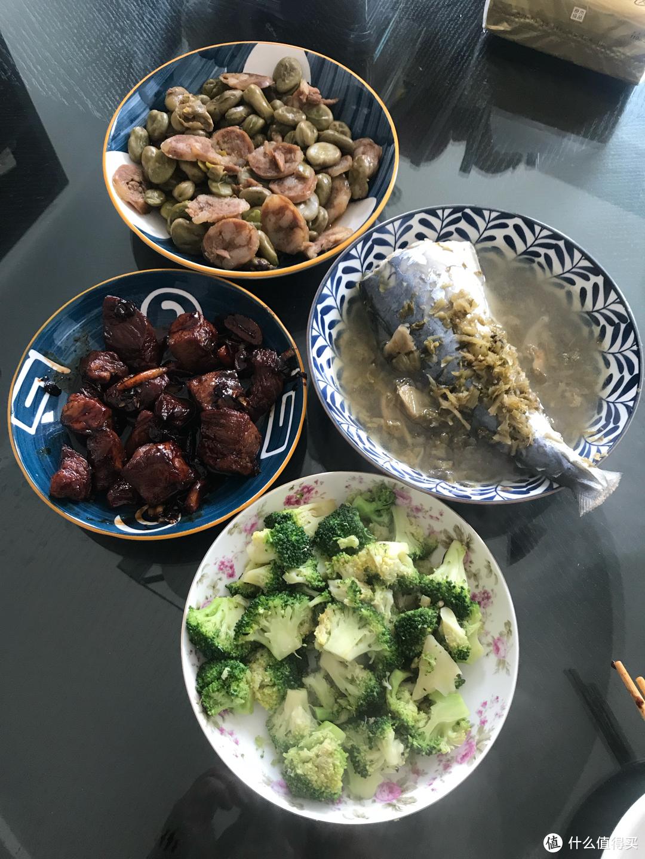 周末我给孩子和夫人烧的菜