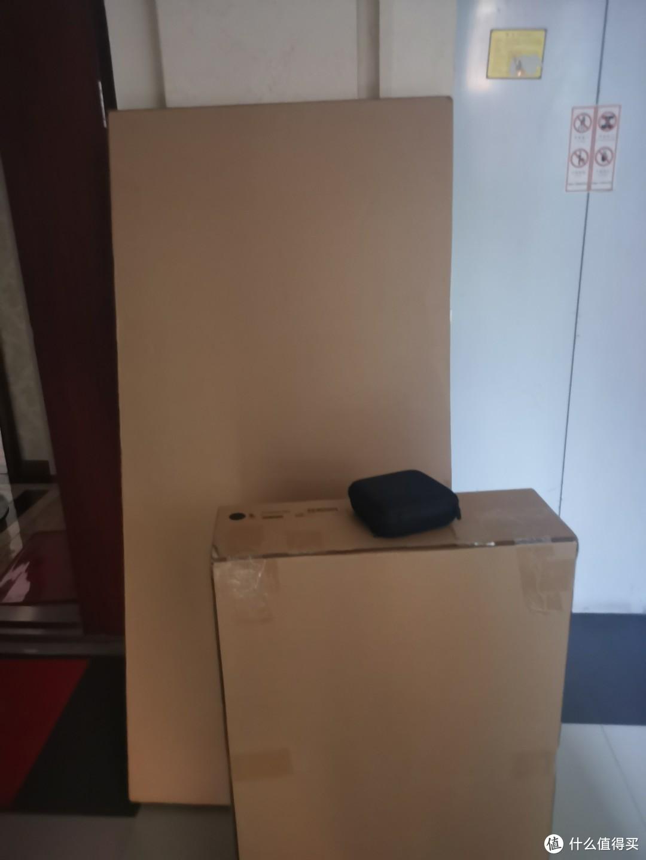 两个包装,一百多斤的东西,我从小区门口搬回家的时候,衣服都透了。