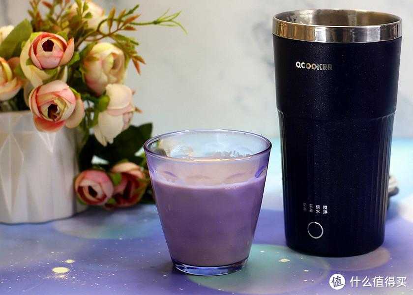 丝滑美味轻按即成,圈厨便携奶茶杯健康奶茶轻松做出来