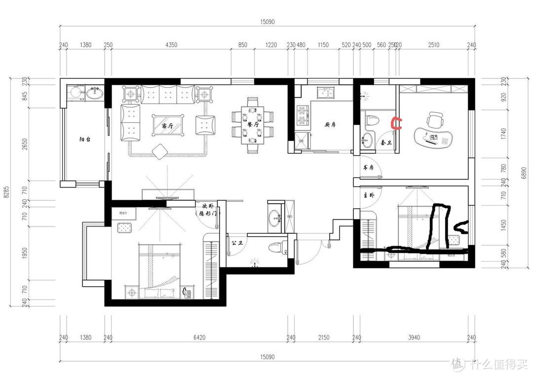 装修之前就应该预留的家具尺寸图,窗帘盒床头柜床衣柜的距离是多少???