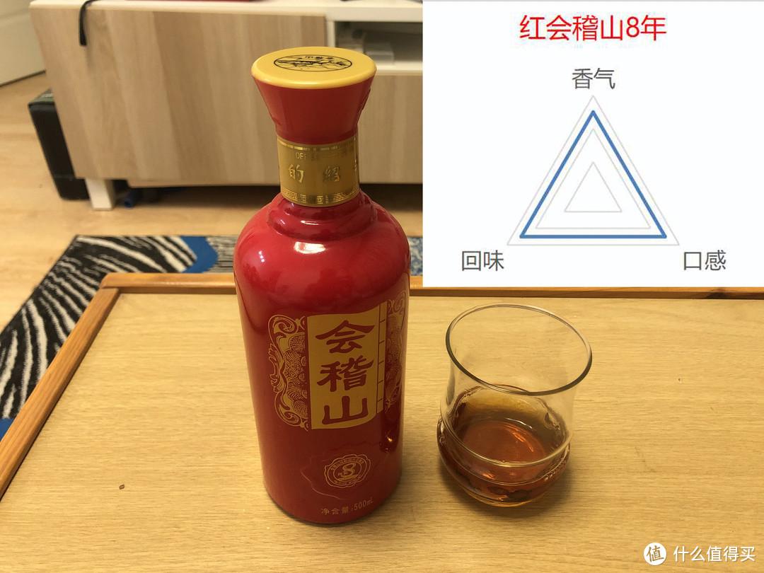 会稽山红瓶8年纯和,15分