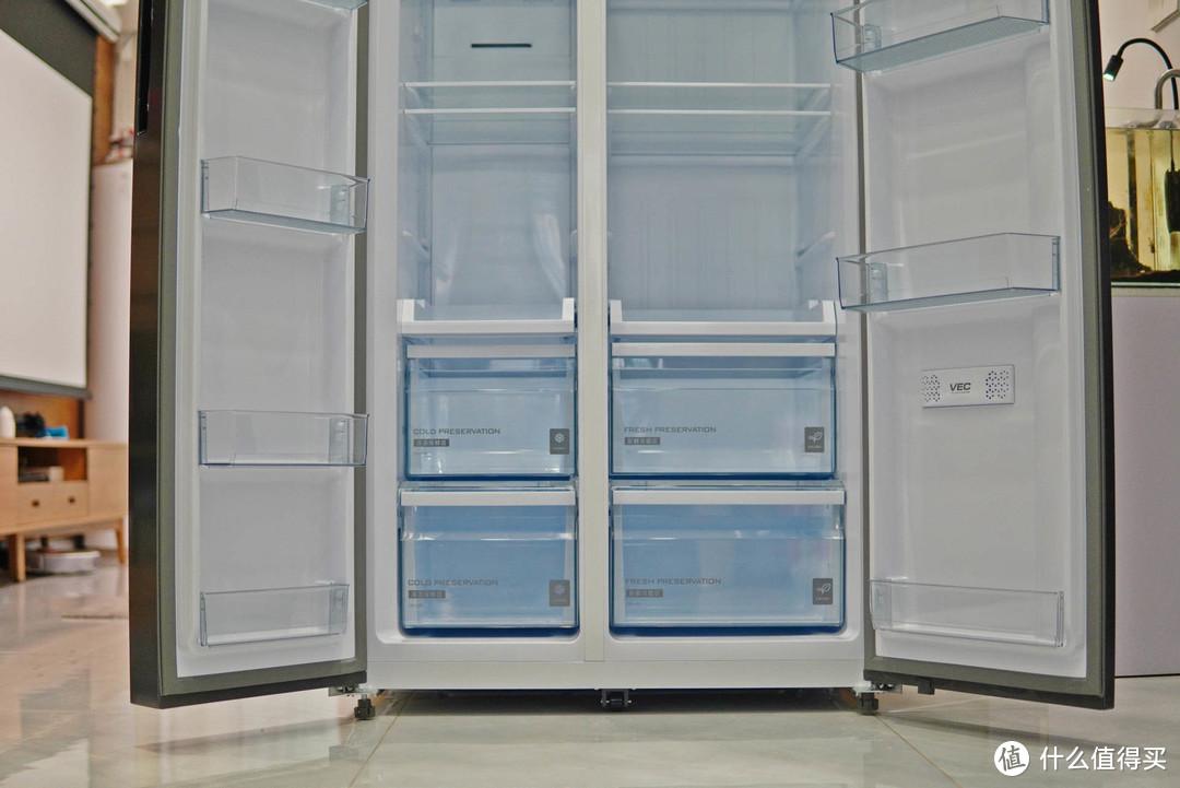 大块头有大智慧,云米639L双开门新风净味冰箱