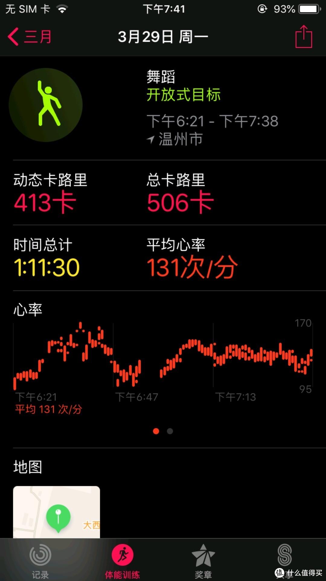 苹果表跳舞数据