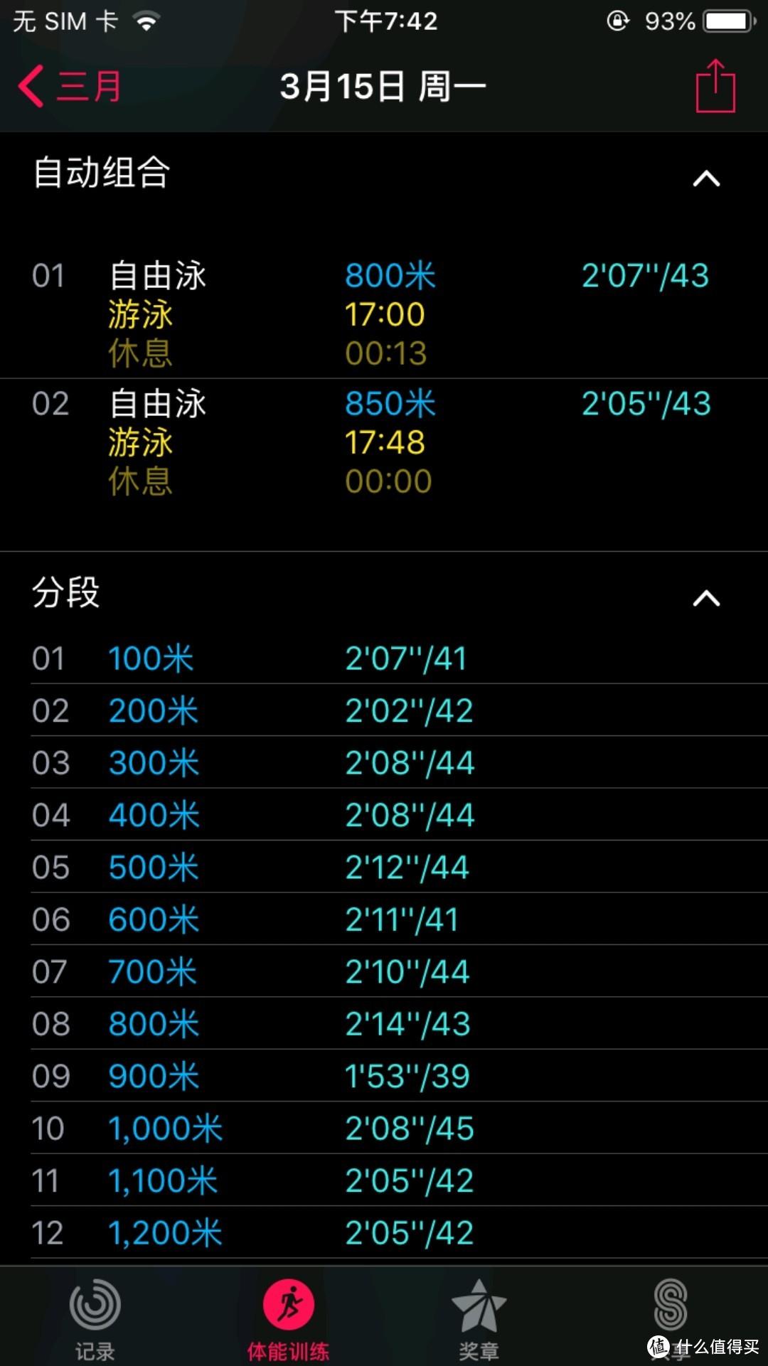 小米手环6  多项运动记录对比