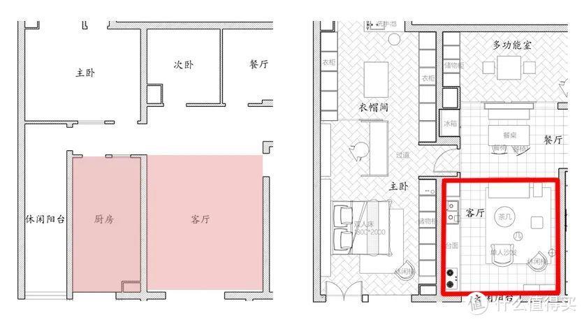 嚯!113㎡ 整了5室2厅,竟然连厨房都不要了?