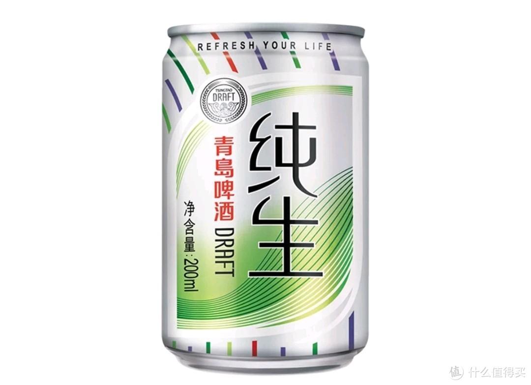 青岛纯生:麦汁浓度10°P,酒精度≥4