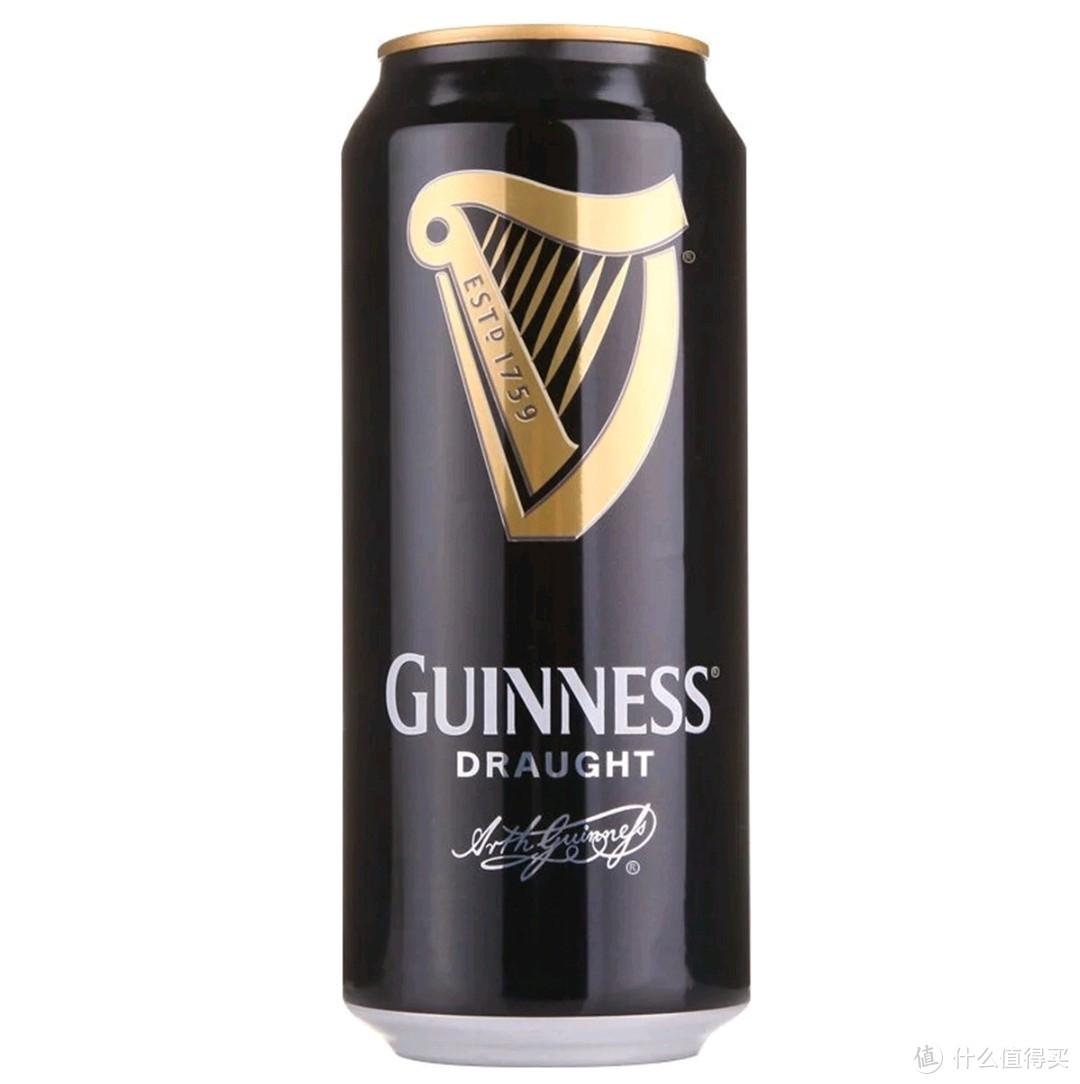 健力士黑啤:麦汁浓度12°P,酒精度≥4.2