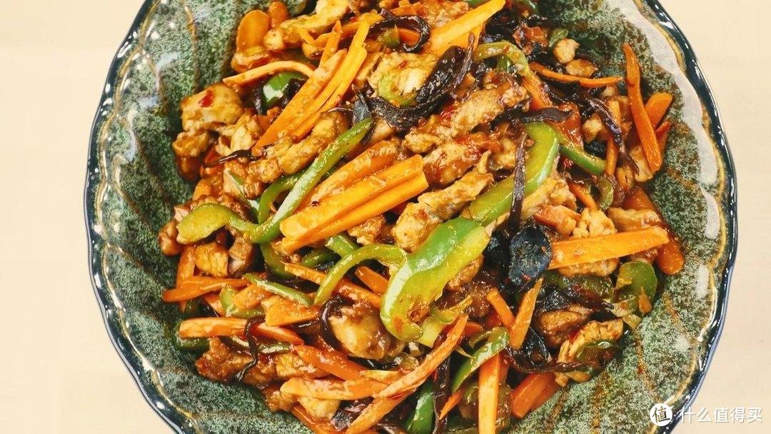 空气炸锅鱼香肉丝,少油更健康,超棒的下饭菜