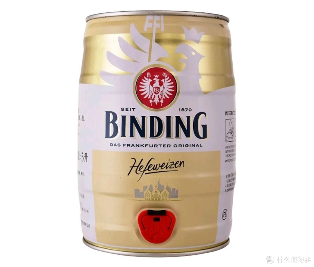 冰顶白啤5L装:麦汁浓度11.2°P,酒精度≥4.8