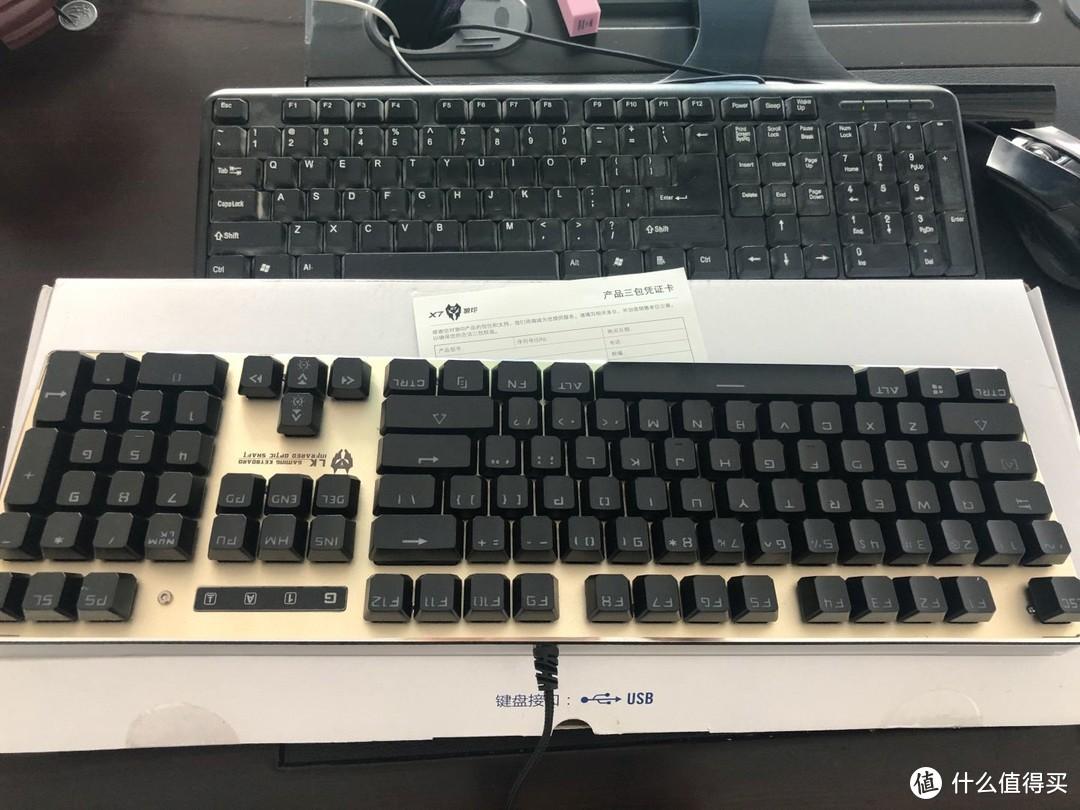 双飞燕机械键盘测评:X7狼印X850金黑