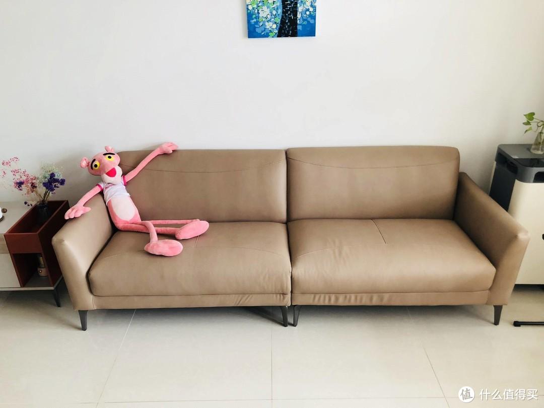 一张科技小羊皮沙发带来的舒适生活,真体验真舒服