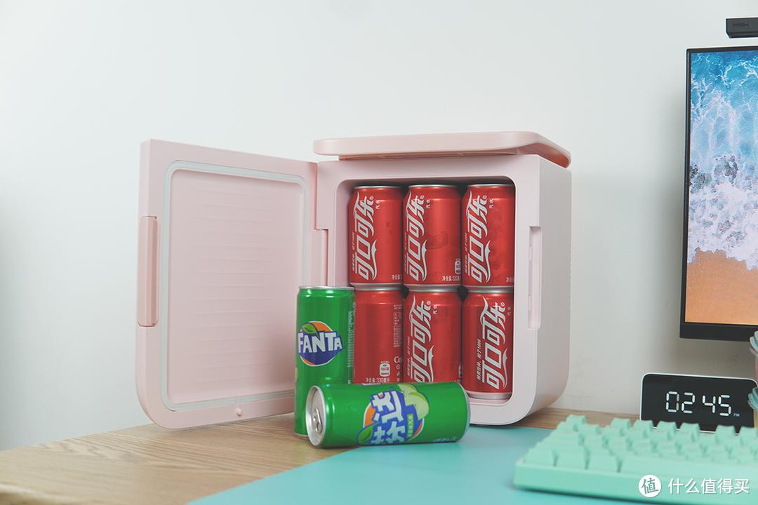 冰可乐和热牛奶我都要,宿舍神器——放在桌面上的迷你小冰箱