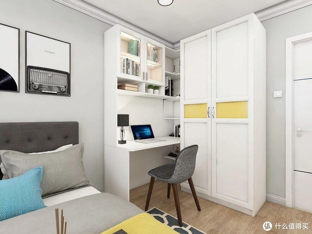 卧室比较小,衣柜这样摆!