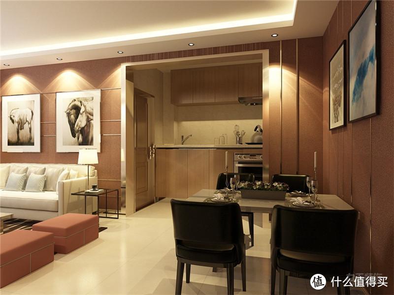 139平两室两厅装修,用土红色作为主色调的家,效果竟还不错