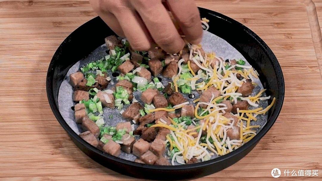 空气炸锅做披萨,肉又嫩又香