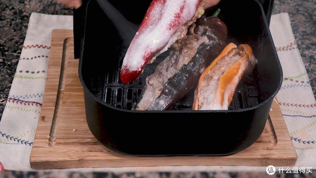 空气炸锅酿甜椒,色香味的下饭菜