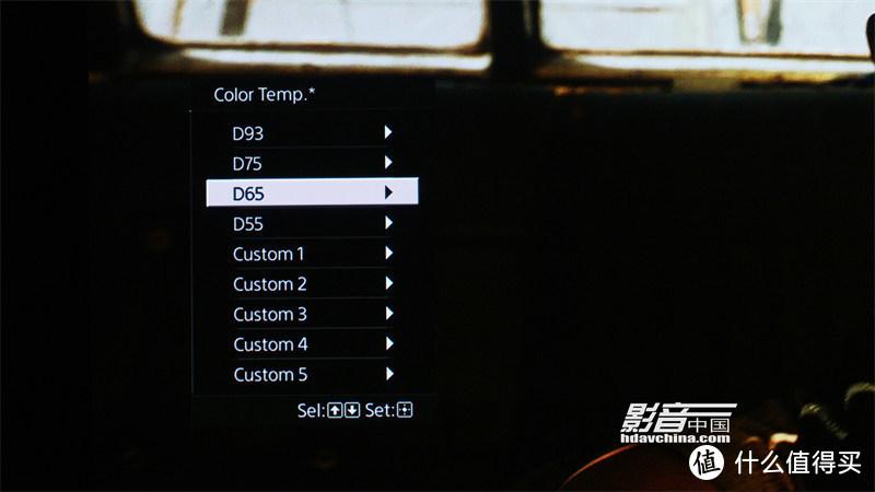 色温模式是我们在色彩调校过程中经常使用的功能,其中预设的D65模式,在使用ISF认证白幕的情况下,拥有相当不错的准度