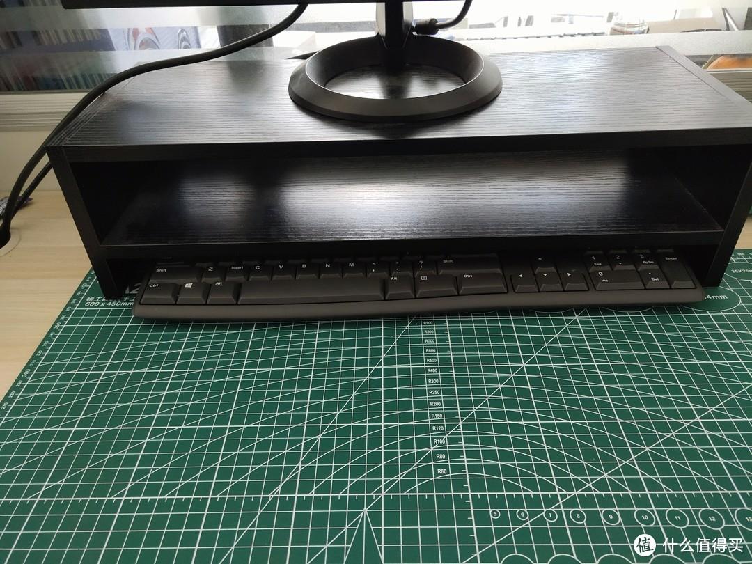 底座可以收纳键盘,放置小物件