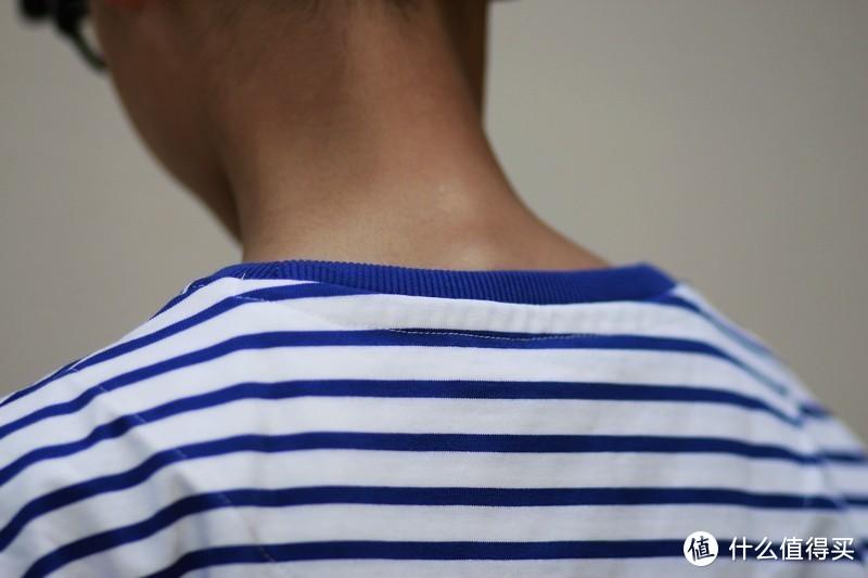 帅气 上纺拾柒棉 重磅复古条纹海魂T恤
