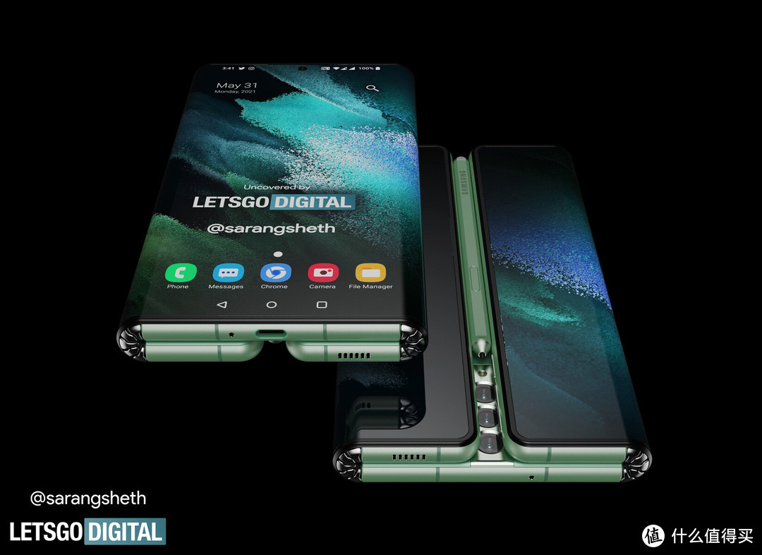 又一种折叠形态,三星 Galaxy Z Fold Tab 折叠机渲染图出炉