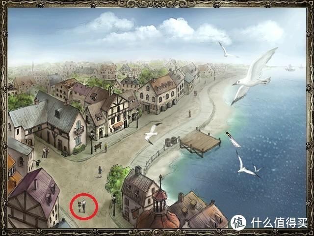 原版游戏中镜头会推向最下方主角位置