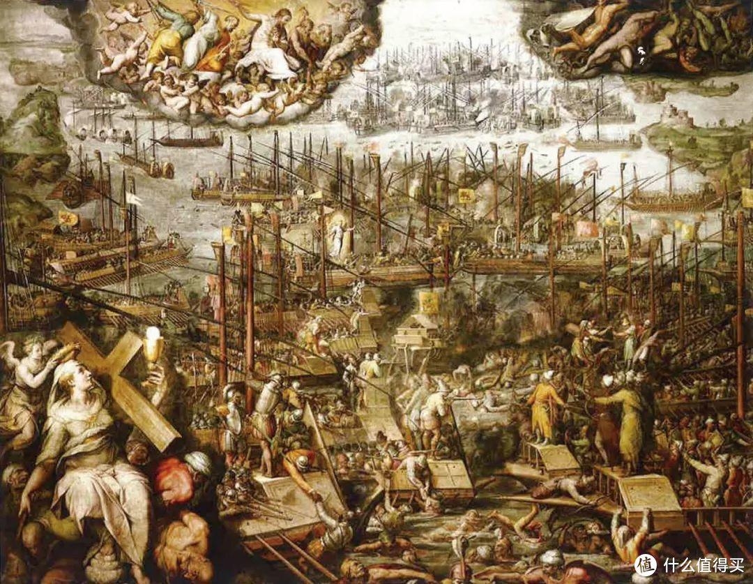 1572年瓦萨里的作品《勒班陀战役》