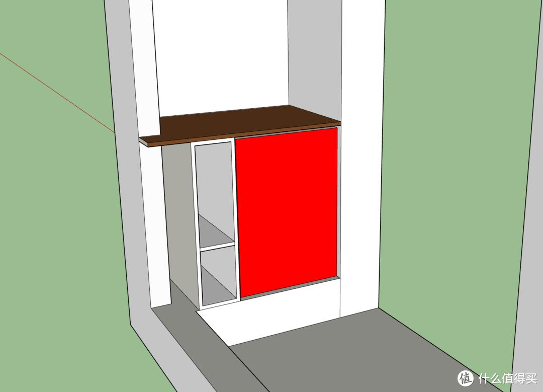 构思三:阳台放洗衣机