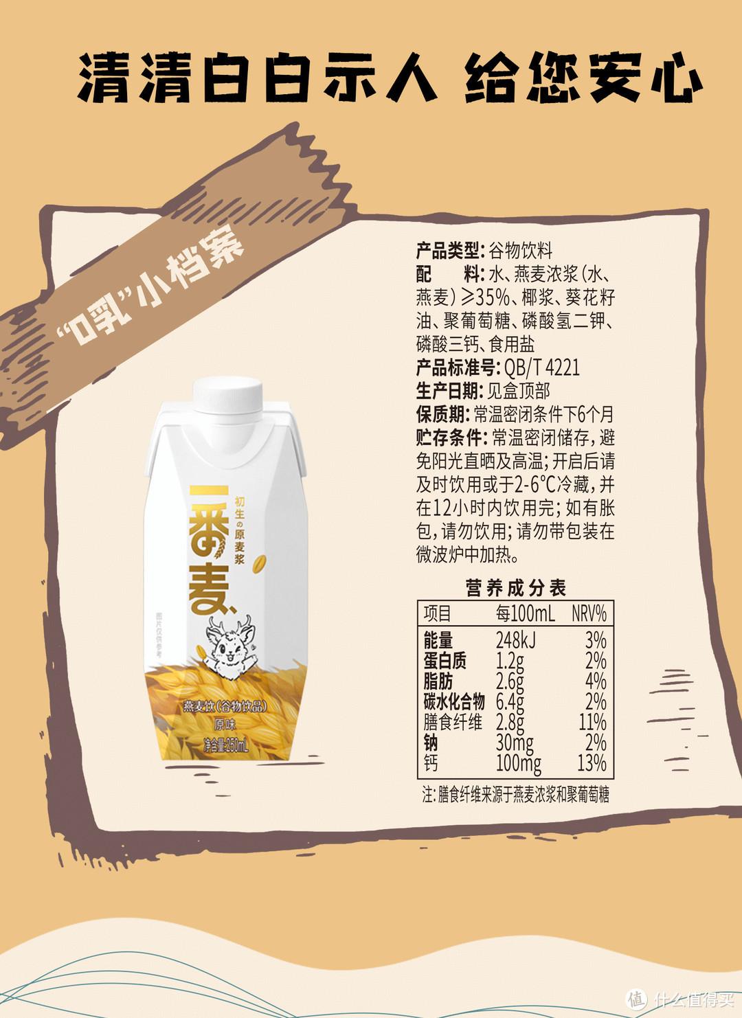 """好喝、好闻、好健康——膳食纤维的搬运工,一番麦""""0乳""""燕麦饮"""