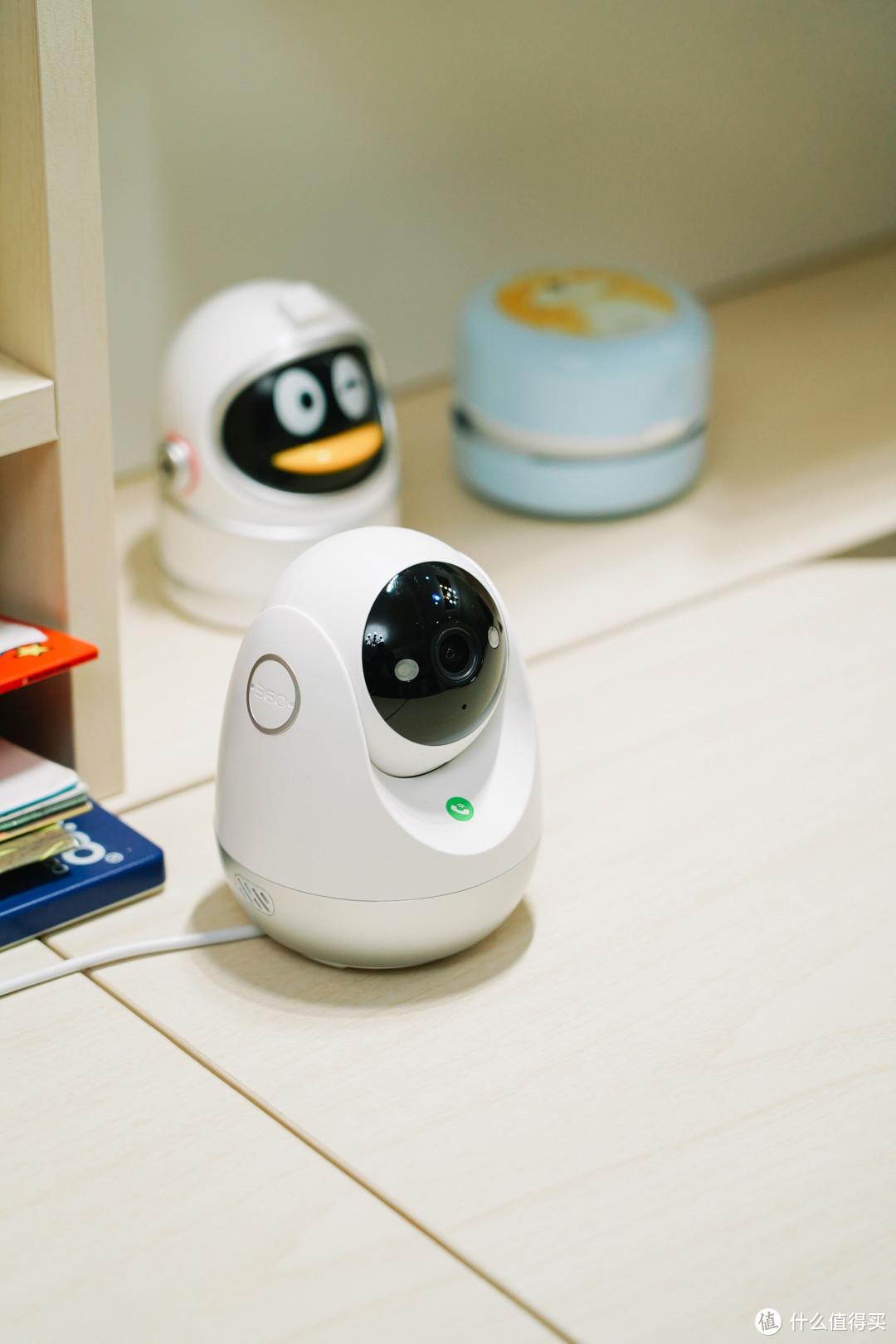 2.5K全彩夜视,一键呼叫智能报警:360摄像机云台 7C 超清版