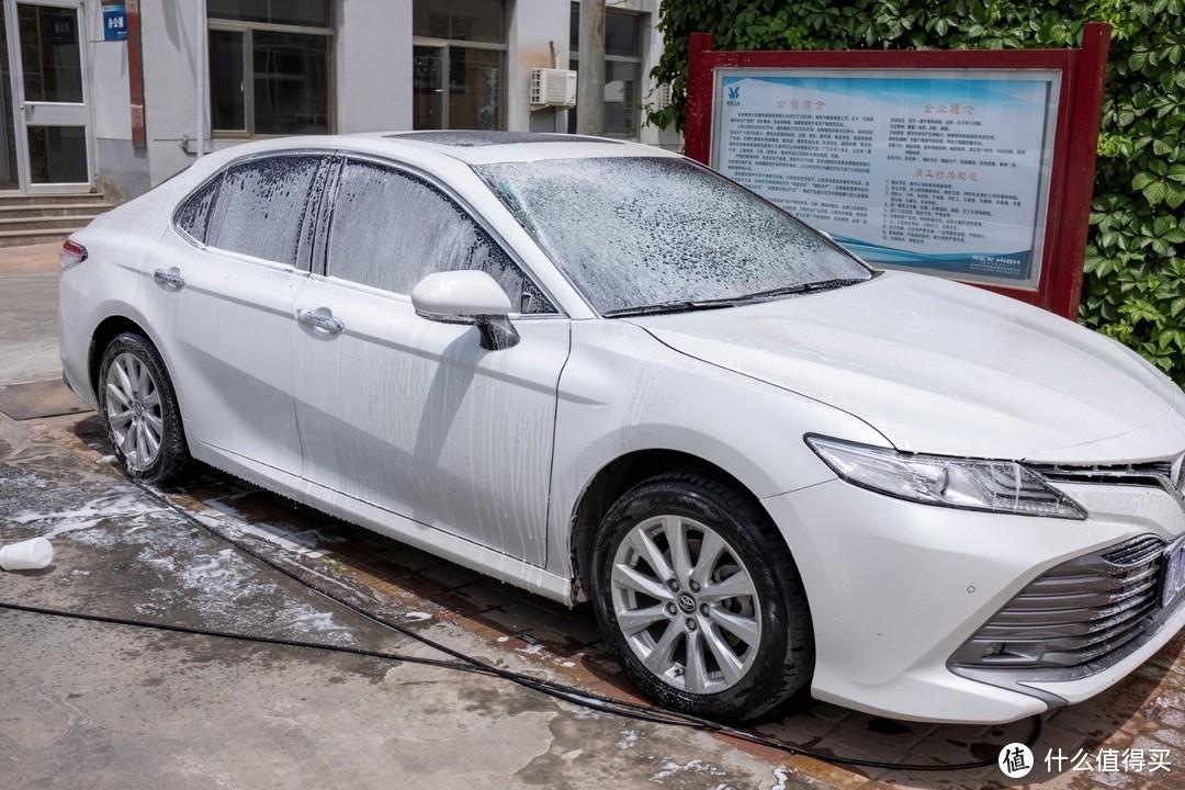 体验波塞冬P5完整洗车流程,洗车效果拔群,钱包表示它没白付出