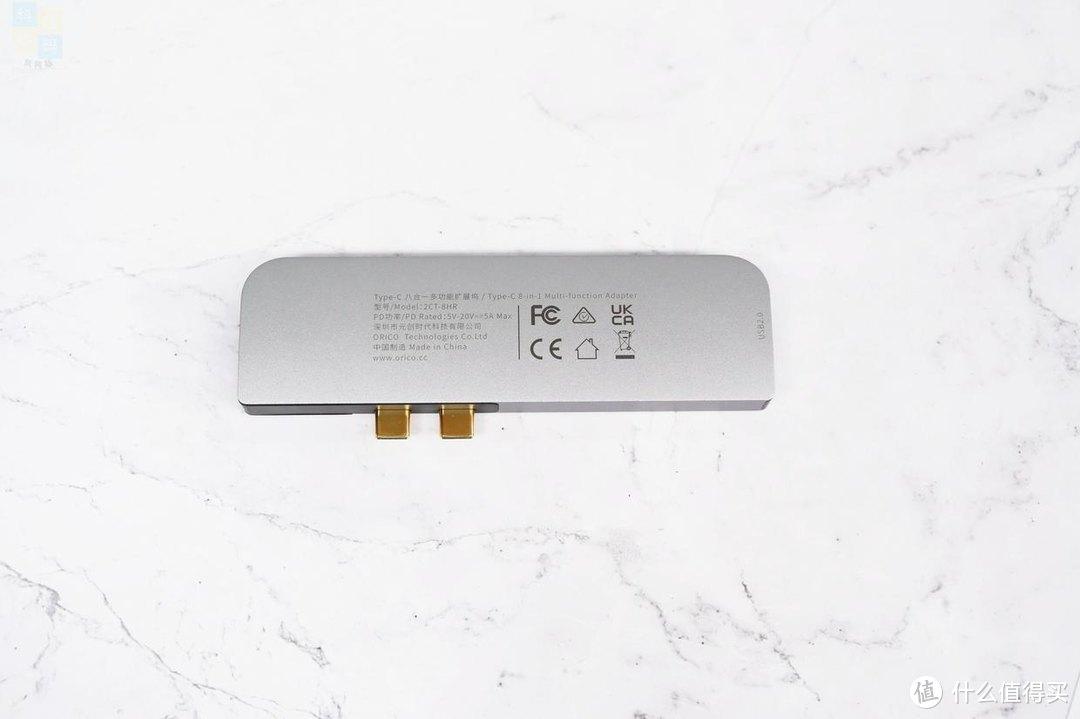 接口更齐全,还支持雷电3,Orico Type-C 八合一多功能扩展坞上手
