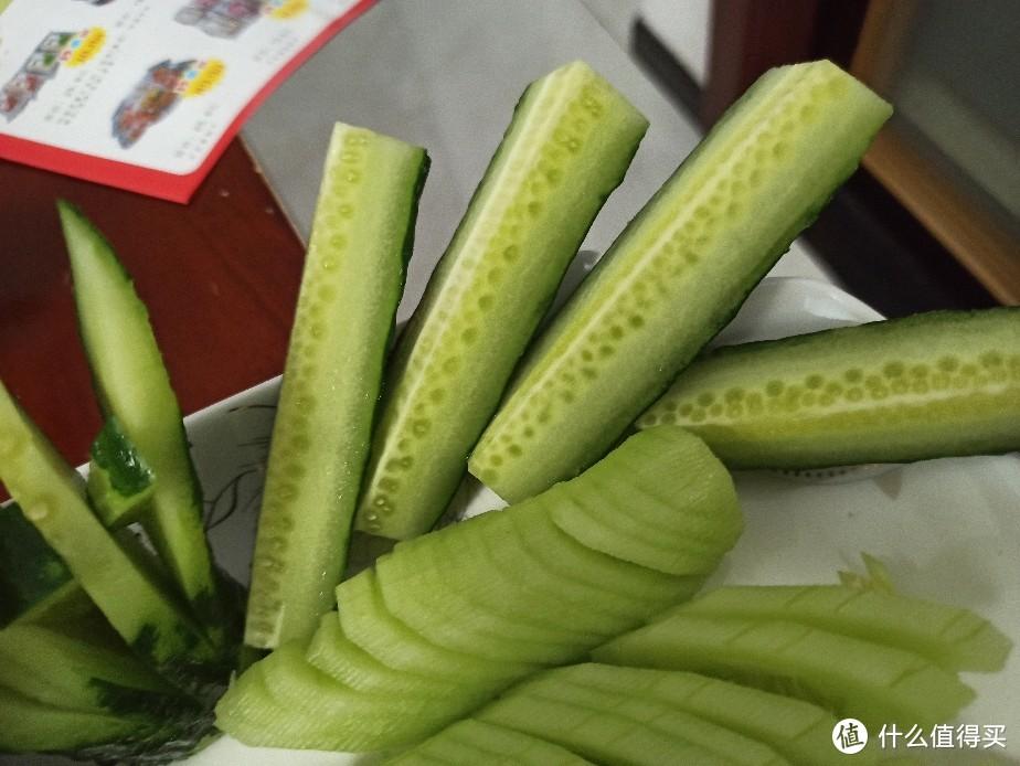 夏天的美味:蓑衣黄瓜,冰山青龙