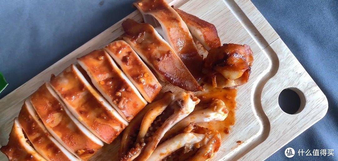 韩式辣烤鱿鱼,软弹味浓,非常入味