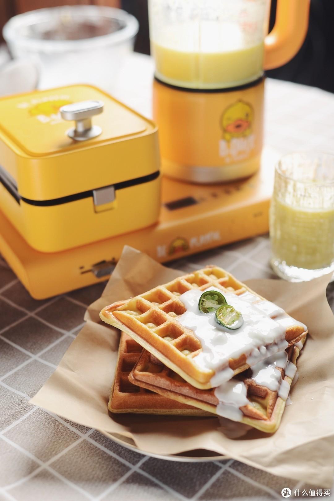 解放懒人双手的早餐机+破壁机 实现华夫饼自由