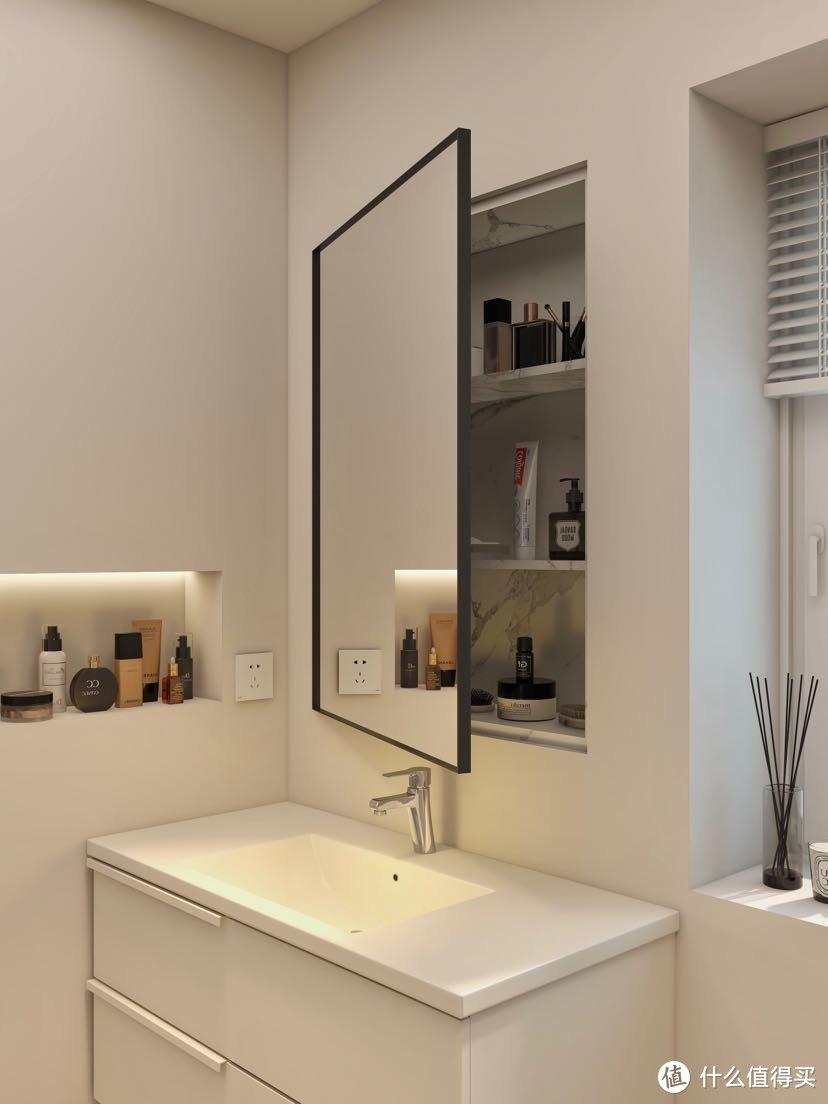机智的镜柜设计✨简约系智能马桶太好用了