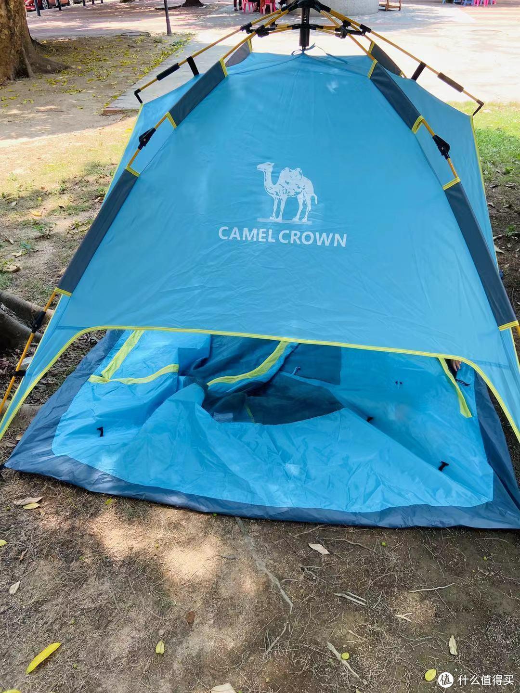 骆驼A0W3SF130自动速开双层帐篷体验分享