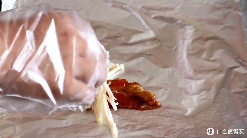 烤五花肉卷金针菇,夏日烧烤在家做