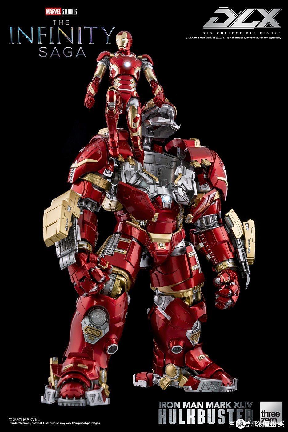 threezero即将推出1/12比例反浩克装甲,小比例高可动的精致人偶